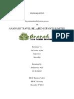 Internship Report on Ananash Travel