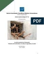 Noticia Epidemiológica N· 31. Red de Sociedades Científicas Medicas  Venezolanas