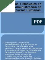 Técnicas Y Manuales en la Administración de Recursos- Alegria
