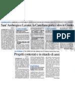 S.Ambrogio e Lavater, la Castellano porta i silos in giunta - Il Giorno, 24 giugno 2011