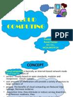 Presentation on Cloud Computing by Ronak Pandya