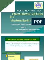 NORMA ISO 14001 EXPOSICIÓN