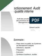 Perfectionnement audit qualité interne