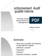 Perfectionnement audit qualité interne