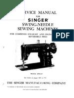 Singer model 401A1 1950s sewing machine op manual