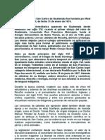 Historia USAC-GUATEMALA