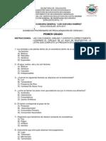 EXAMEN DE CIENCIAS 2010-2011