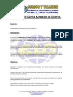 Ficha Técnica - Curso de Atención al Cliente ELG Asesores