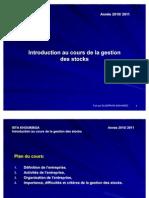 Introduction Au Cours de La Gestion Des Stocks