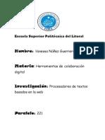Procesadores de Textos Basados en La Web