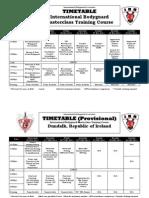 Timetable International BG Skills Nov&Dec 2011