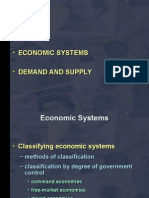 Lecture 01 02. Economic Systems Demand and Supply