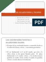 Coordenadas Ecuatoriales y Locales