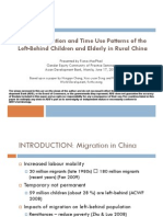 Labour Migration and Time Use Patterns of the Left-Behind Children and Elderly in Rural China