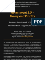 Government 2.0 - Theory and Practice - lecturers by Professor Beth Noveck and Professor Brian Fitzgerald