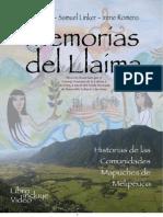 Libro Memorias Del Llaima. Historias de las comunidades mapuches de Melipeuco
