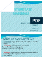 Denture Base Materials Ppt
