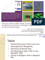 Overview of BAT/BEP on Persistent Organic Pollutants and Environmental Impact