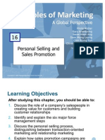 Principles of Marketing - Personal Selling & Sales Promotion