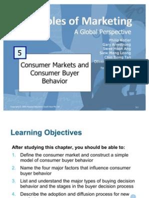Principles of Marketing - Consumer Markets & Consumer Buyer