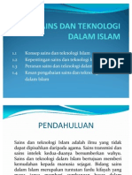 Sains Dan Teknologi Dalam Islam