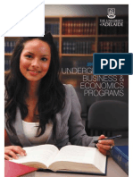 2012 Undergraduate Business & Economics Quick Guide