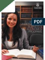 2012 Undergraduate Business & Economics Quick Guide