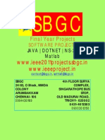 Ieee Projects 2011 for cse @ SBGC ( chennai, trichy, madurai, dindigul )
