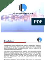 Bhushan Steel Ltd - Presentation