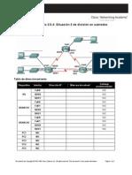 Práctica de laboratorio 3 5 4 Situación 3 de división en subredes