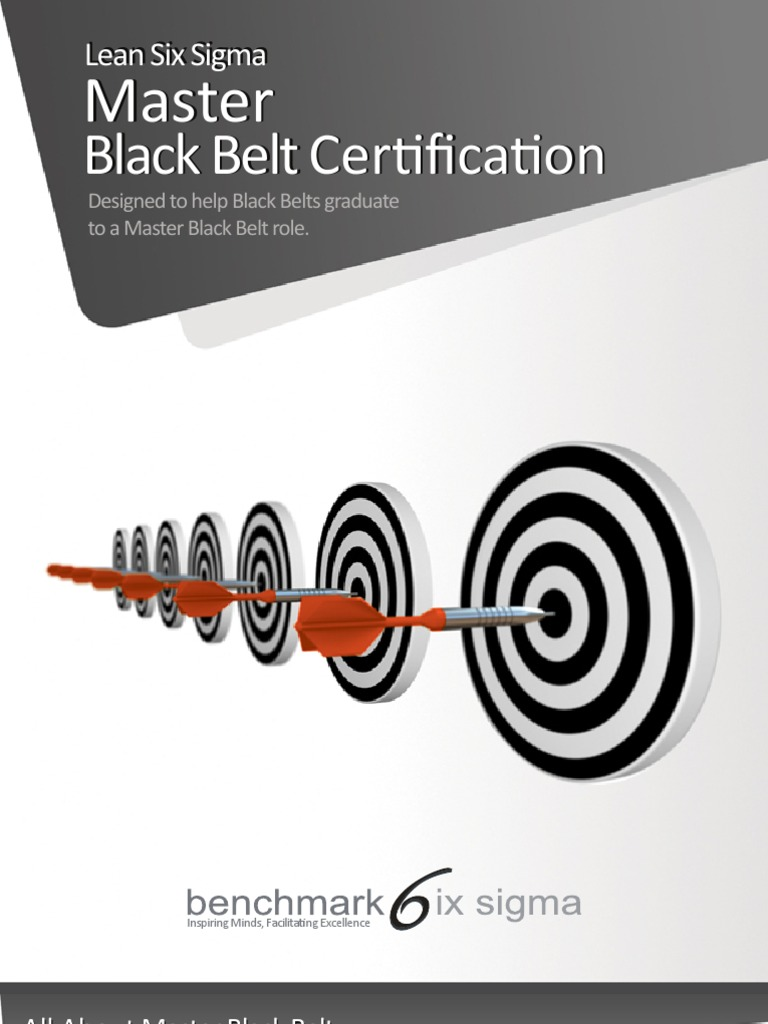 Benchmark Six Sigma Master Black Belt Brochure Six Sigma Simulation
