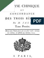 Analyse Chimique Et Concordance Des Trois Regnes Tome1