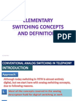 7.1 Elementry Switching Concepts and ions