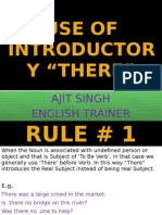 Use of Introductory There