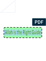 Monotheism-Allah is the Right Guide