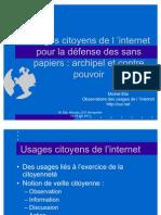 Usages Citoyens de l Internet Pour La Defense Des Sans Papiers
