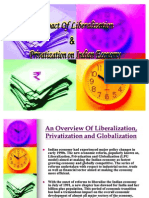 Impact of Liberalization & Privatization on Indian Economy(1)