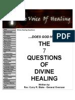 Divine Healing Questions