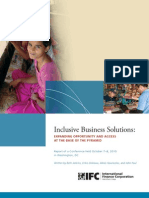 IFC Inclusive Business Solutions Event Report 2010