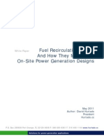 Fuel Re Circulation Issues - Technical Brief