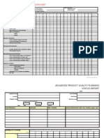 Advanced Quality Planning Status Report