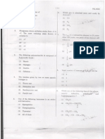 APPSC Polytechnic Lectuers exam Chemistry Subject Paper held on 19th May 2011