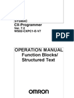 W447--E1-05+CX-Programmer V7.2 Operation Manual Function Blocks Structured Text