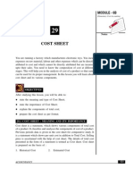 Cost Sheet - PDF