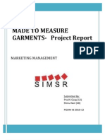 Report on Feasibility Study on Made to Measure Garments