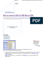 How to Convert CBZ & CBR Files to PDF