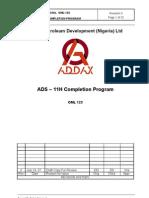 ADS 11H Completion Program REV-0