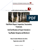 Mohamed Jama Idiris field report of wajaale ,hargeisa,berbera
