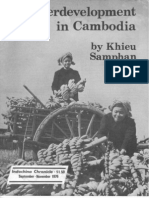 """Underdevelopment in Cambodia,"" by Khieu Samphan"