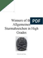 Allgemeines Sturmabzeichen High Grades, Winners
